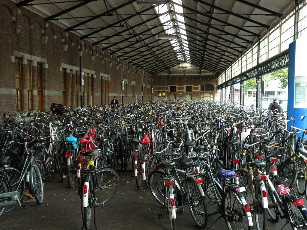 Yes, there will be bicycling chaos at a Dutch train station