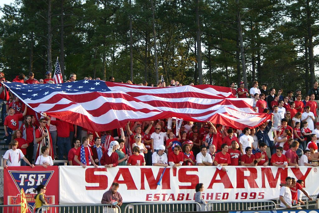 Sam's Army - the supporter group of the USA soccer team