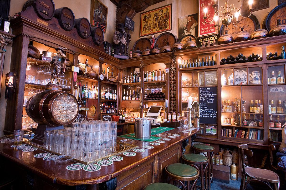 Brown bar in Amsterdam