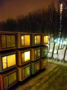 And that's how the spaceboxes look those warm and cosy (NOT) winter nights.