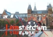 Iamsterdam sign letters gone end
