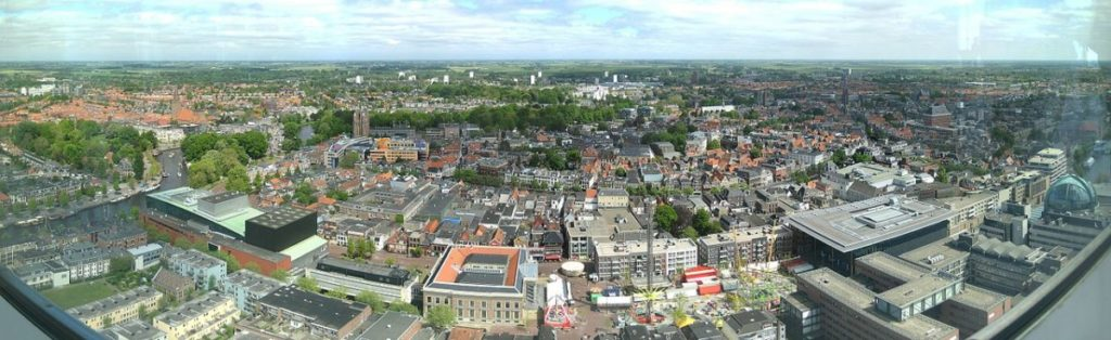 view-from-Achmeatoren-tower-in-Leeuwarden