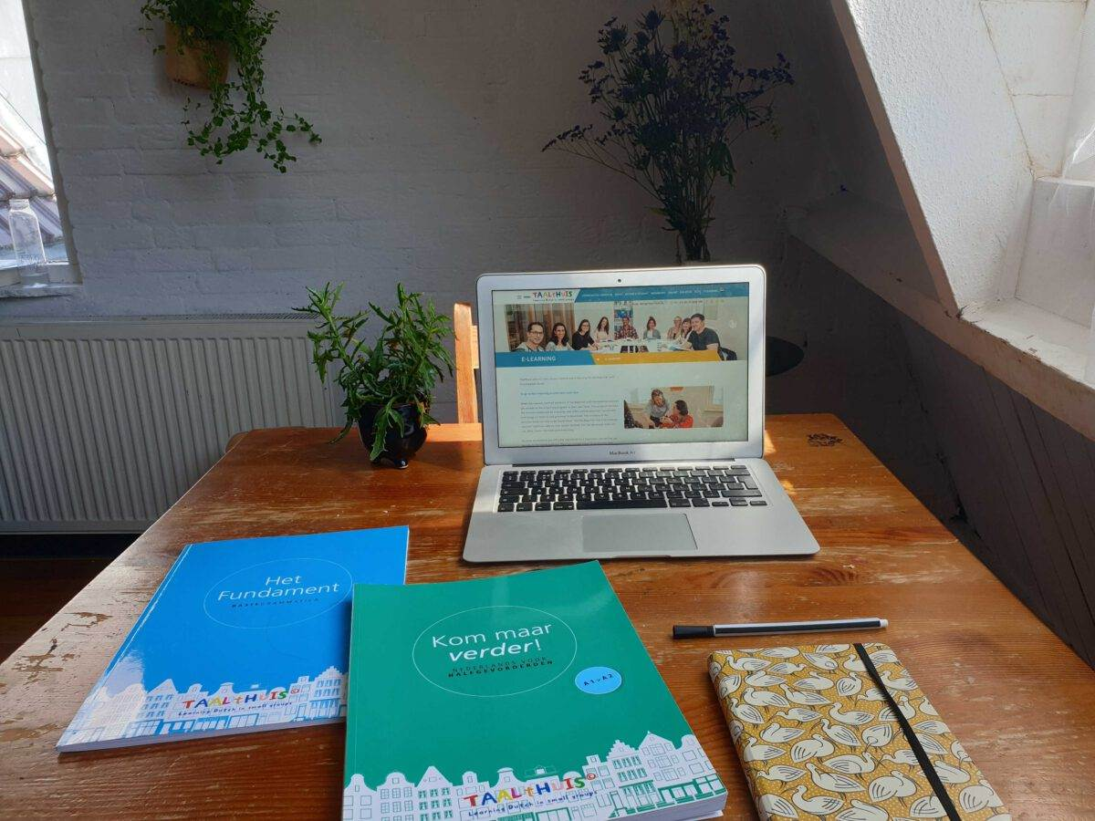 Photo-of-woman-sitting-at-laptop-learning-Dutch-online
