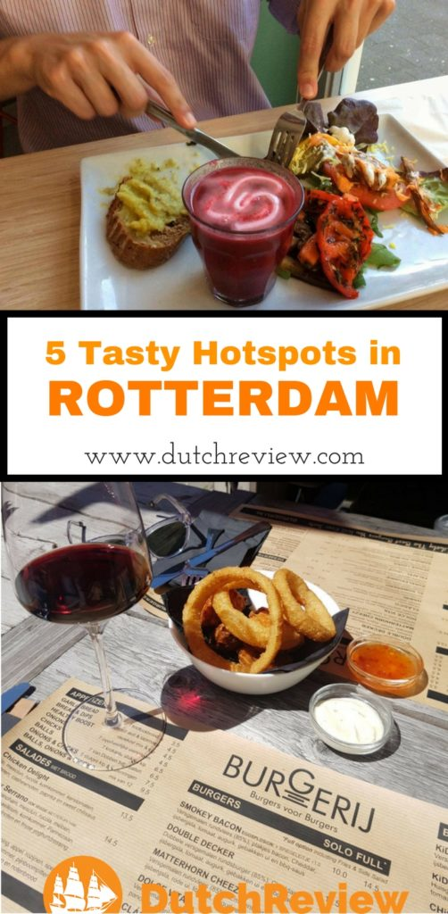 5 great places to eat in the city of Rotterdam.