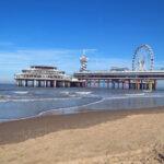 view on De pier from Scheveningen Beach