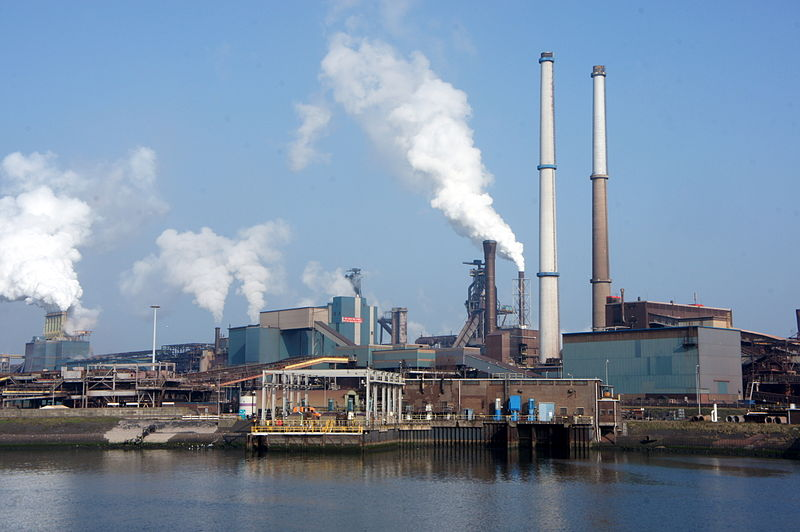 tata steel in ilmuiden steel factory