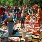 Kings day flea market