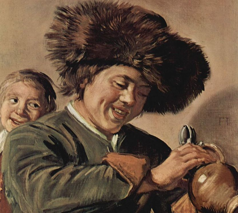 Painting-of-two-boys-laughing-by-Frans-Hals