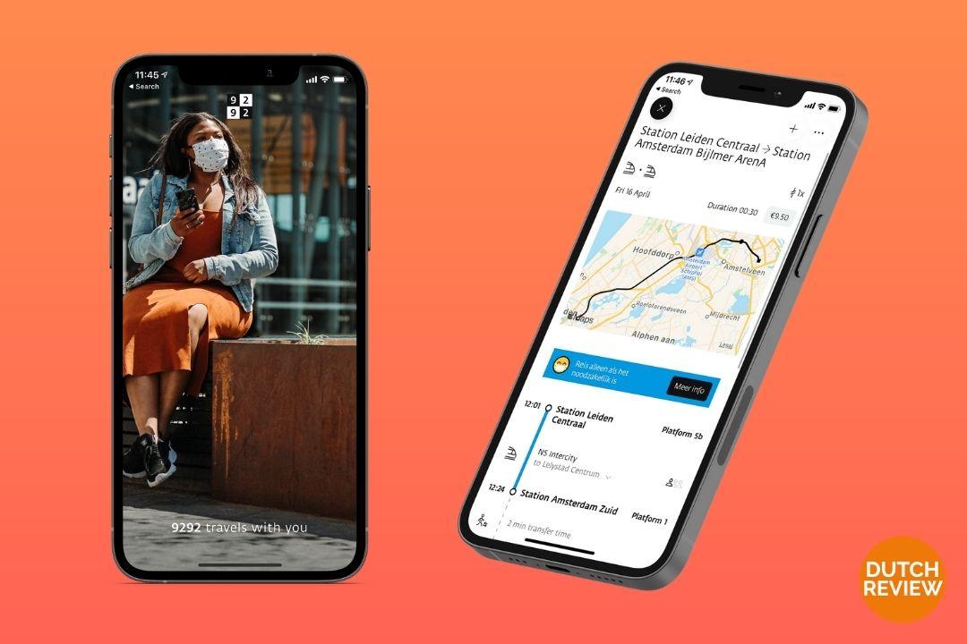 9292-app-on-a-Dutch-phone