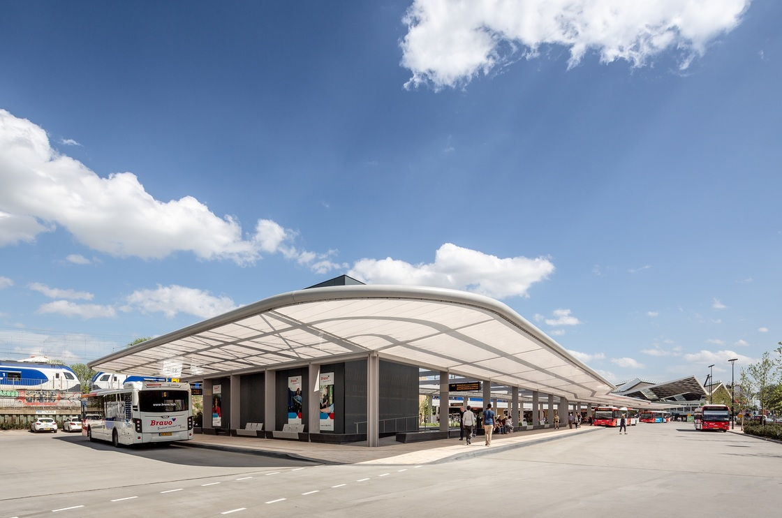solar-powered bus station at Tilburg
