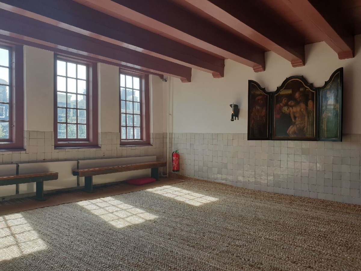 A 16th century chapel in the Museum Ons Lieve Heer op Solder Amsterdam