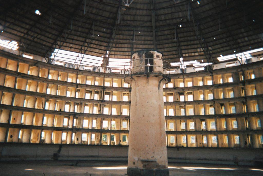 A panopticon style prison