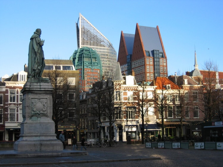 A square in Den Haag.