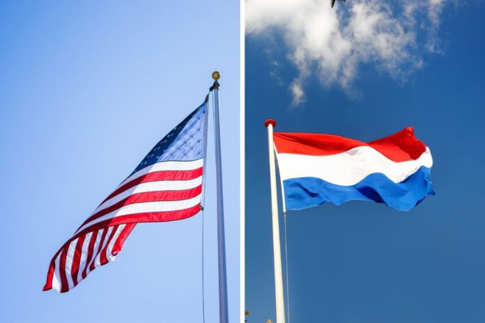 photo-of-dutch-and-american-flags