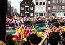 Gay pride parade in Amsterdam
