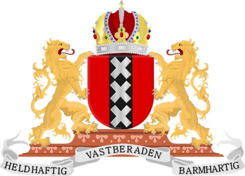 The Amsterdam coat of arms.