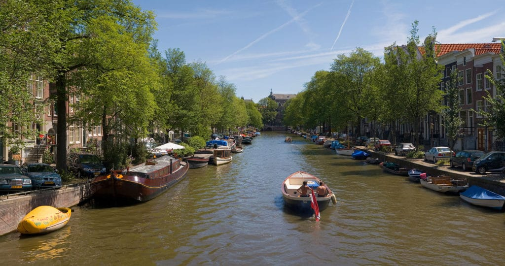 swimming in the canals in Amsterdam