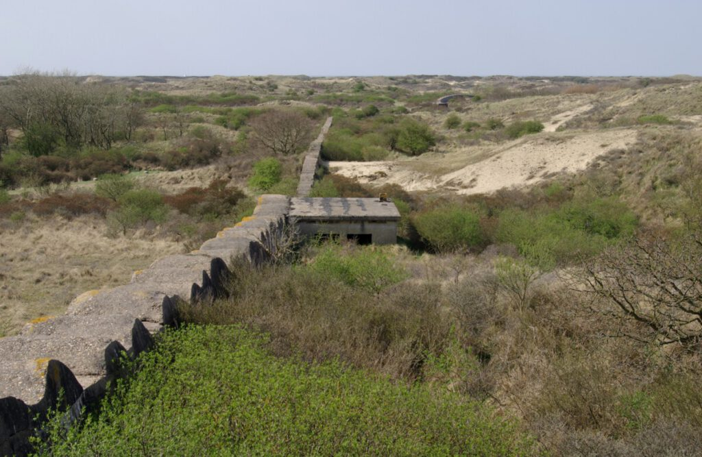 Atlantic Wall ruins along the coast in Katwijk