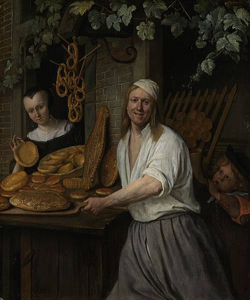 painting-of-baker-pulling-bread-from-over-by-jan-steen