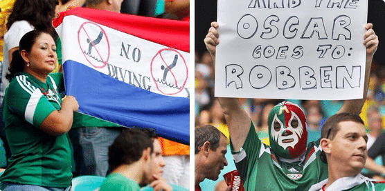 Mexicans don't like us anymore Source: purelyfootball.com