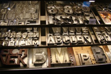Chocolate letters on sale in a Dutch shop