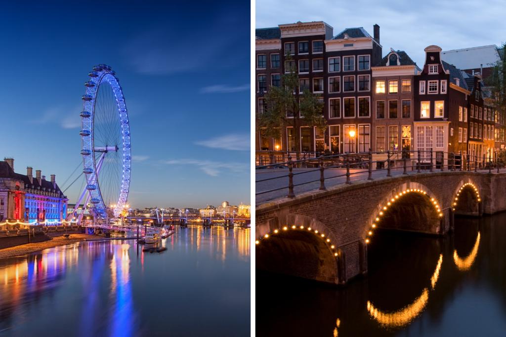 London vesus Amsterdam