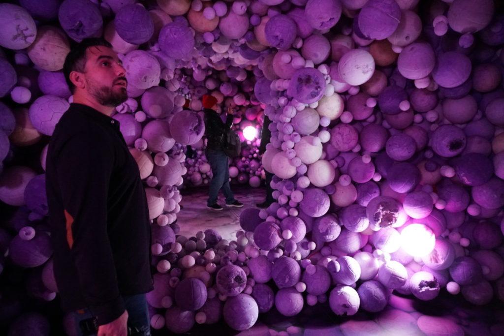 Daniel Arsham's Amethyst Ball Cavern