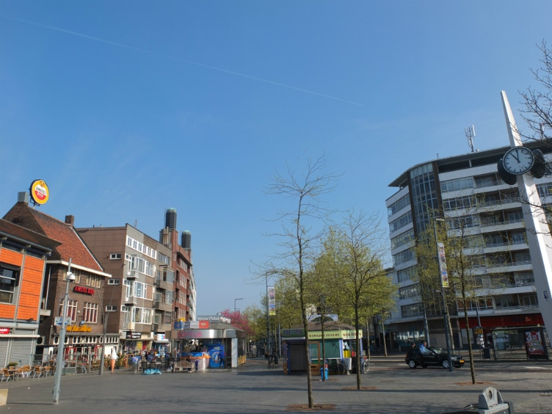One of the central squares of Schiedam. This is the Passage square, therefore often used as a meeting point.