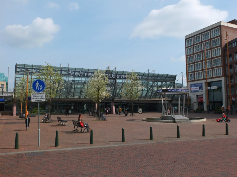 That's the Schiedam central station. From here you can get a train or metro and the tram stops are a few meters close by.