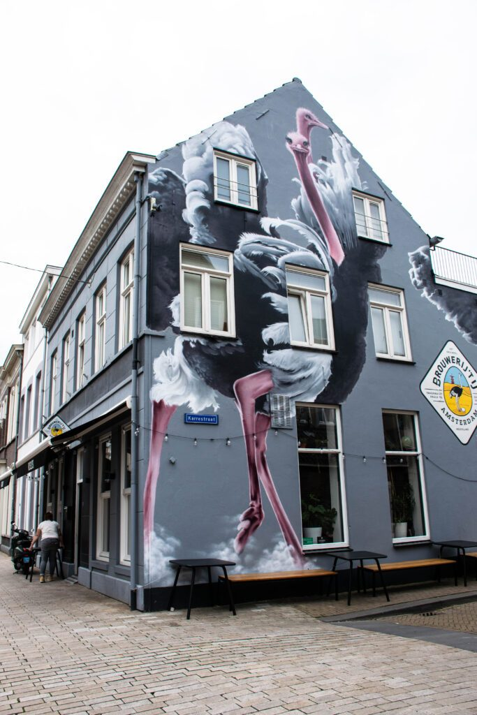 photo-of-a-house-with-a-mural-tilburg
