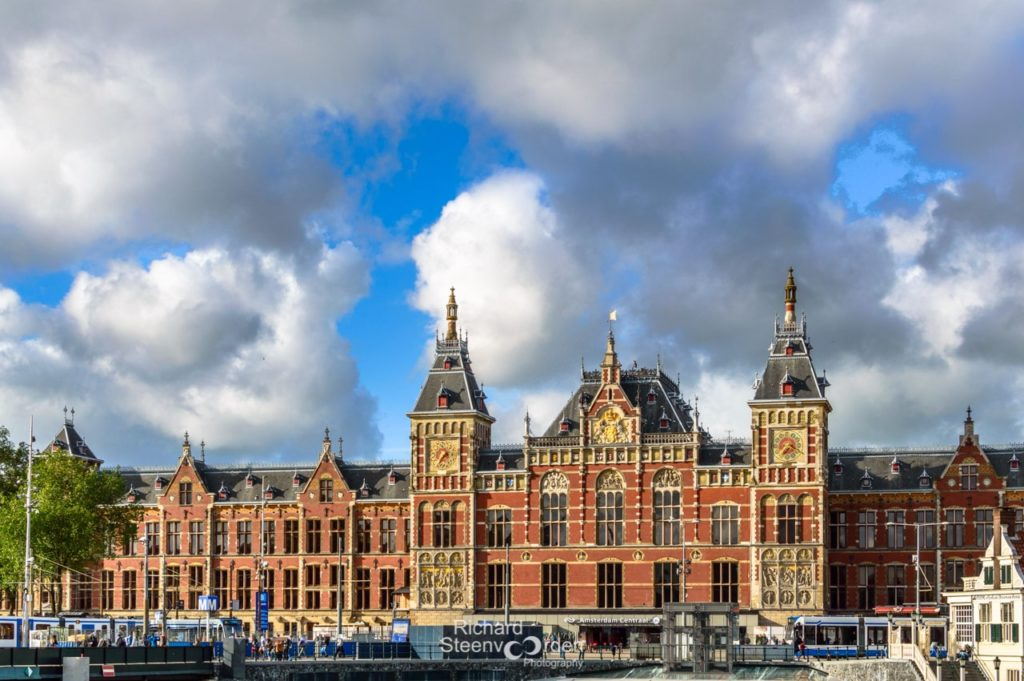 The starting point for most visits, Amsterdam central station