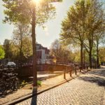 Amsterdam street with canal