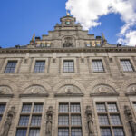 Facade of one side of the city hall in Rotterdam