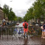 Rainy summer day in Amsterdam