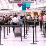 Airport crowd
