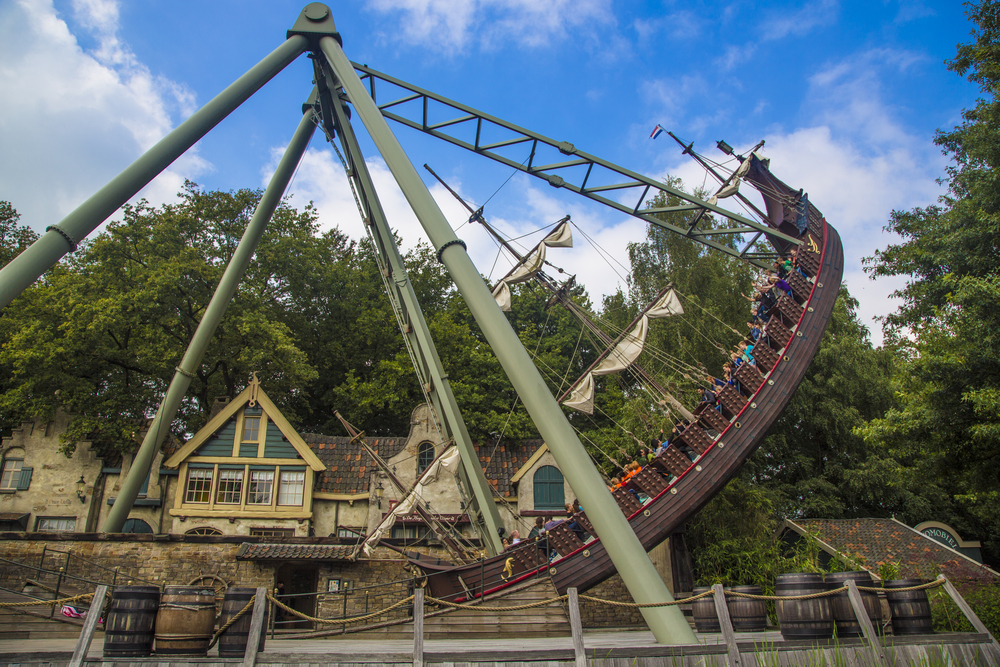 A-boat-ride-at-the-efteling-theme-park-in-the-Netherlands