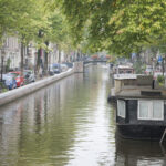 Canal in Jordan District, Amsterdam, Holland