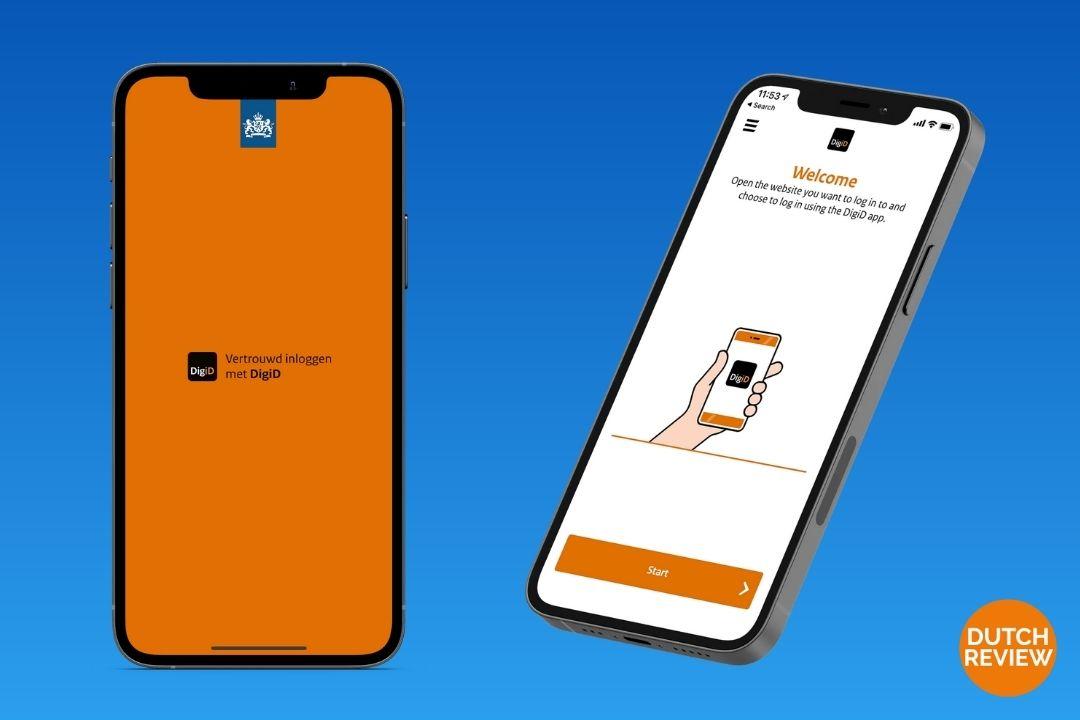 DigiD-app-on-a-Dutch-phone
