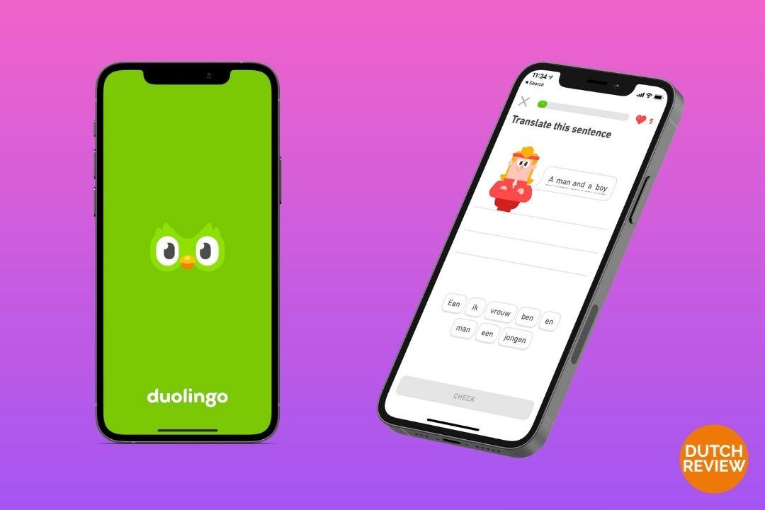 Duolingo-app-on-a-Dutch-phone