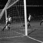 Cruyff scores against Feyenoord during one of the classics in the 70ies