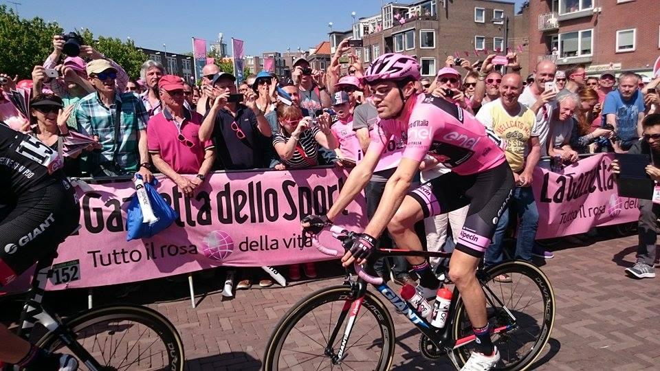 Tom DuMoulin winning the Giro