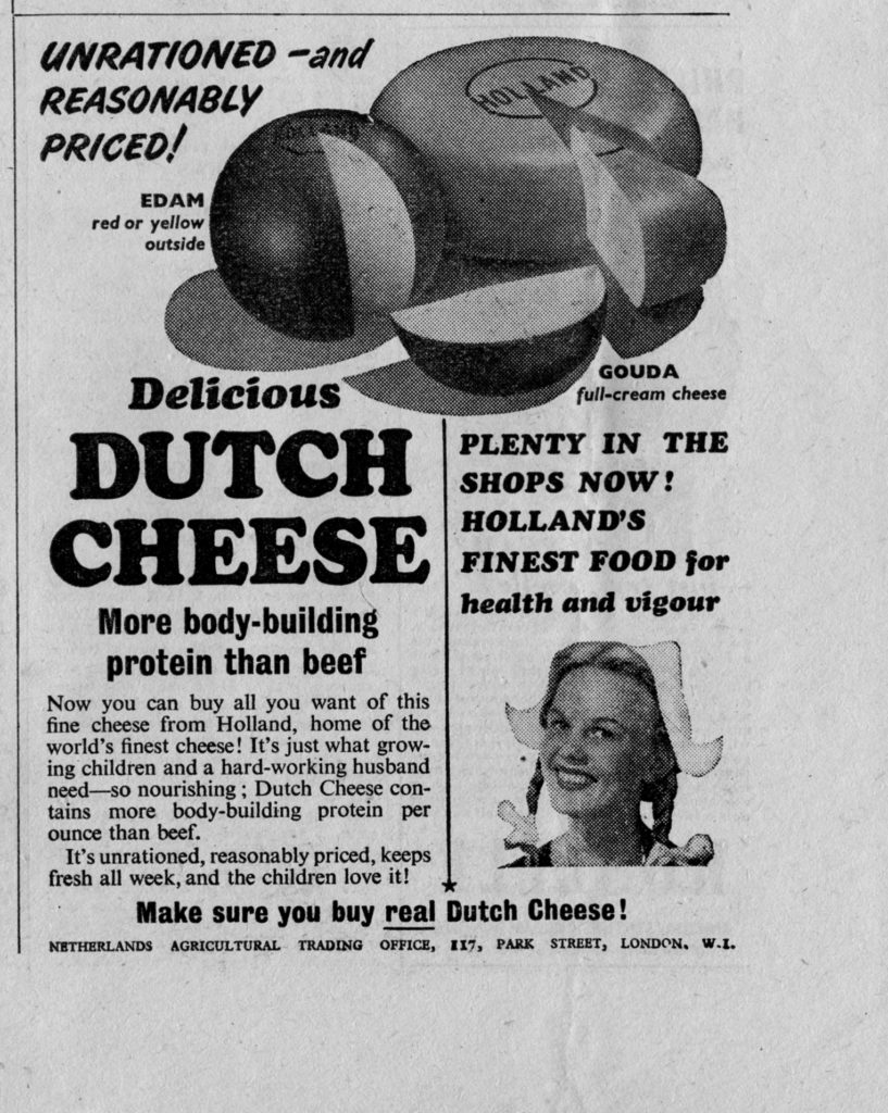 Also, cheese is better than beef for body building purposes. Old timey ads never lie.
