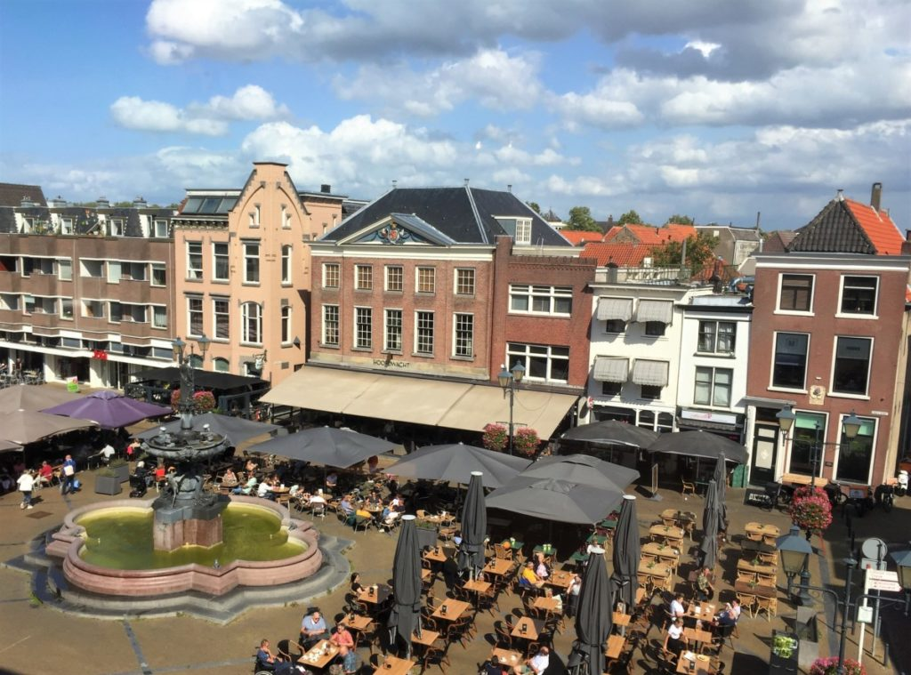 Gorinchem Main Square from above