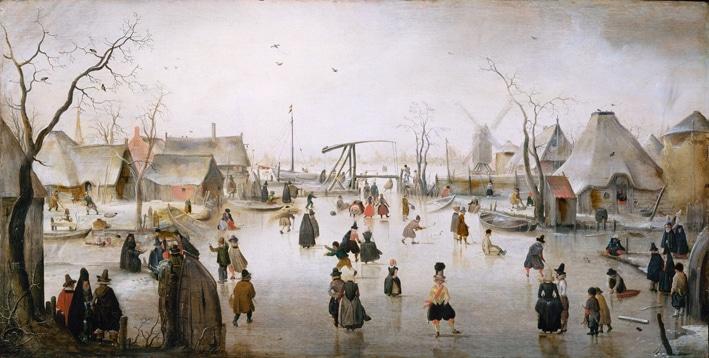 "Hendrick Avercamp's cover image ""On the ice"""
