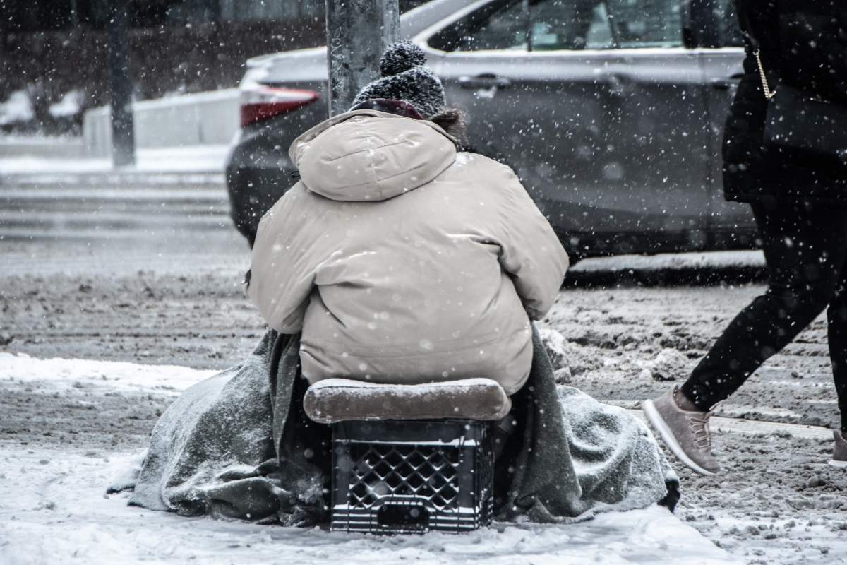 Homeless in the Netherlands during Winter and in need of winter homeless shelters