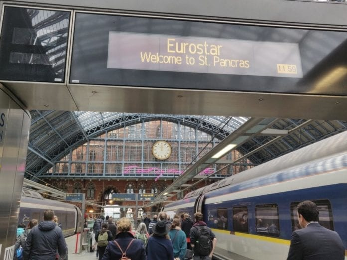 direct eurostar train from Amsterdam to London
