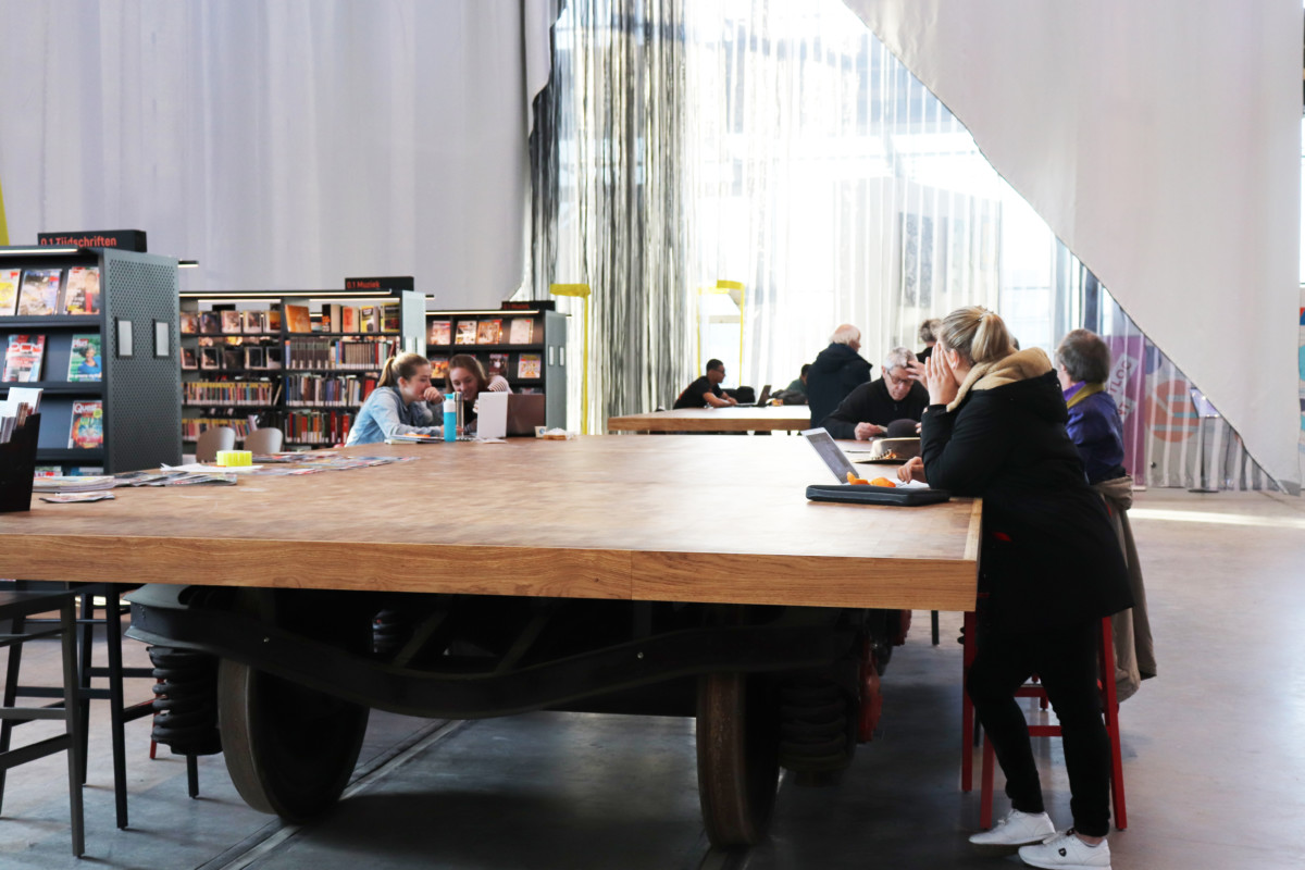 Workspace, LocHal, Tilburg, Library, Co-Working, Shared Space, Community