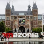 Greenpeace turns world-famous 'iAmsterdam' sign into solidarity message to save Amazon