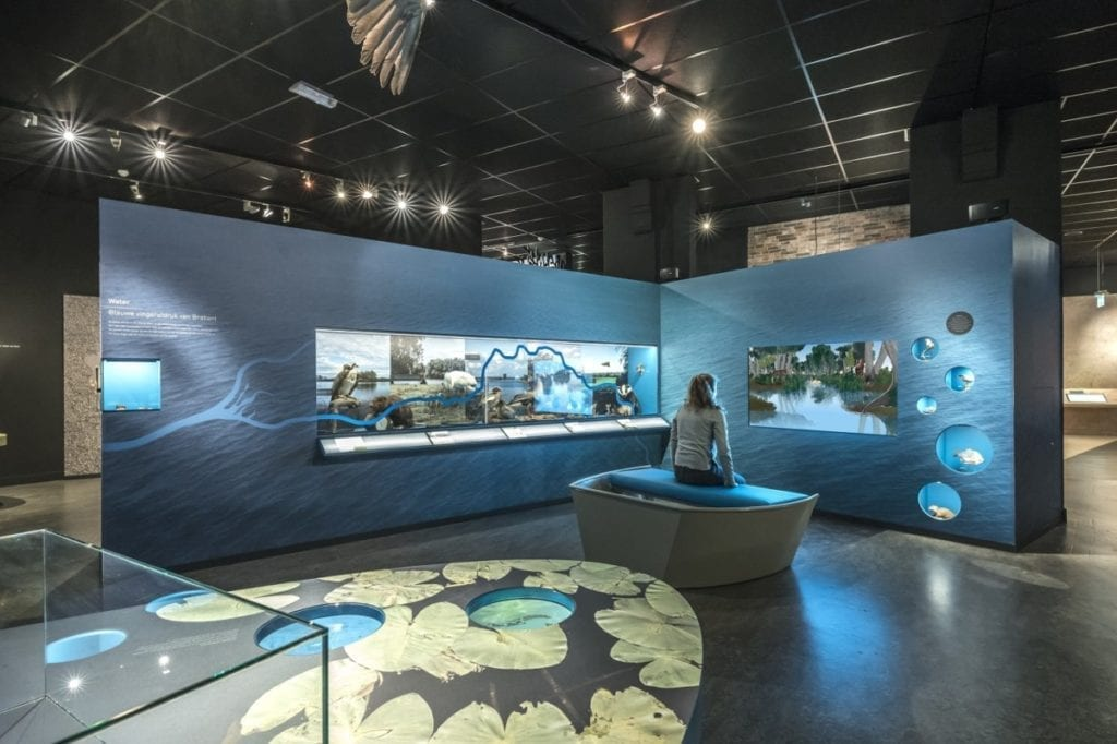 exhibition about the natural history of Brabant in the Natuurmuseum
