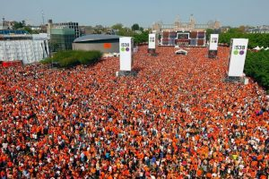 A sea of orange Dutchies on Koningsdag